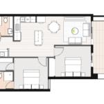 Two bedroom apartment Preston